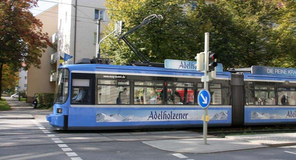 Straßenbahn der MVG, Foto Matthias Niessner